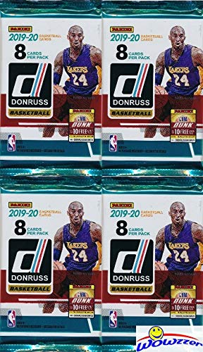 2019/20 Panini Donruss NBA Basketball Collection of FOUR(4) Factory Sealed Packs with 32 Cards! Loaded with ROOKIES & INSERTS! Look for RCS & AUTOS of ZION WILLIAMSON, Ja Morant & More! WOWZZER!