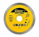 Dewalt DT3715-QZ DT3715-QZ-Disco de Diamante para Corte en seco y en húmedo de azulejo 110x20mm-Porcelana/Piedras, 0 W, 0 V