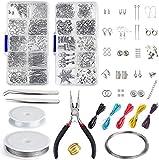 Queta Jewelry Making Kit, Kit Hacer Bisutería, Kit de Inicio de joyería con alicates y Pinzas para la fabricación de Joyas Reparación de artesanías de Bricolaje