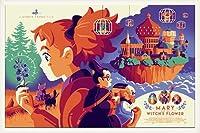 ポスター トム ウェイレン Mondo スタジオジブリ メアリと魔女の花 限定300枚 手書きナンバリング入り 額装品 ウッドベーシックフレーム