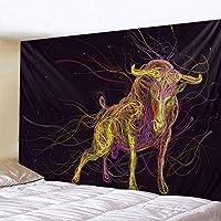マンダラホワイト&ブラック日月タペストリースカルベッドルーム壁掛け自由奔放に生きる毛布カーペットサイケデリックタペストリーホームデコレーション (Color : 2020 564, Size : 150x150cm)