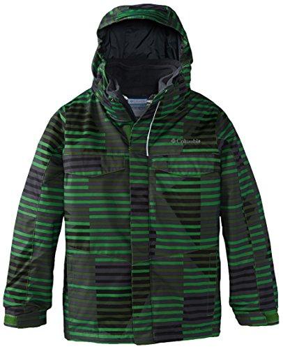 Columbia Boy's Bugaboo Interchange Jacket, Clean Green Print, Large