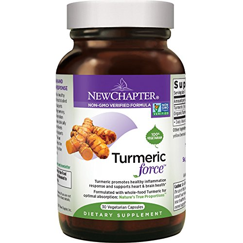 Turmeric Curcumin Supplement, New Chapter Turmeric Supplement, One Daily, Joint Pain Relief + Supercritical Organic Turmeric, Black Pepper Not Needed, Non-GMO, Gluten Free – 30 Count (1 Month Supply)