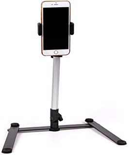 Cinhent Phone Stand Aluminum Photography Video Stand Webcam Stands, Teaching Online Stand for YouTube Video, Crafting Recording Live Streaming Online Video, Self-Portrait Shooting