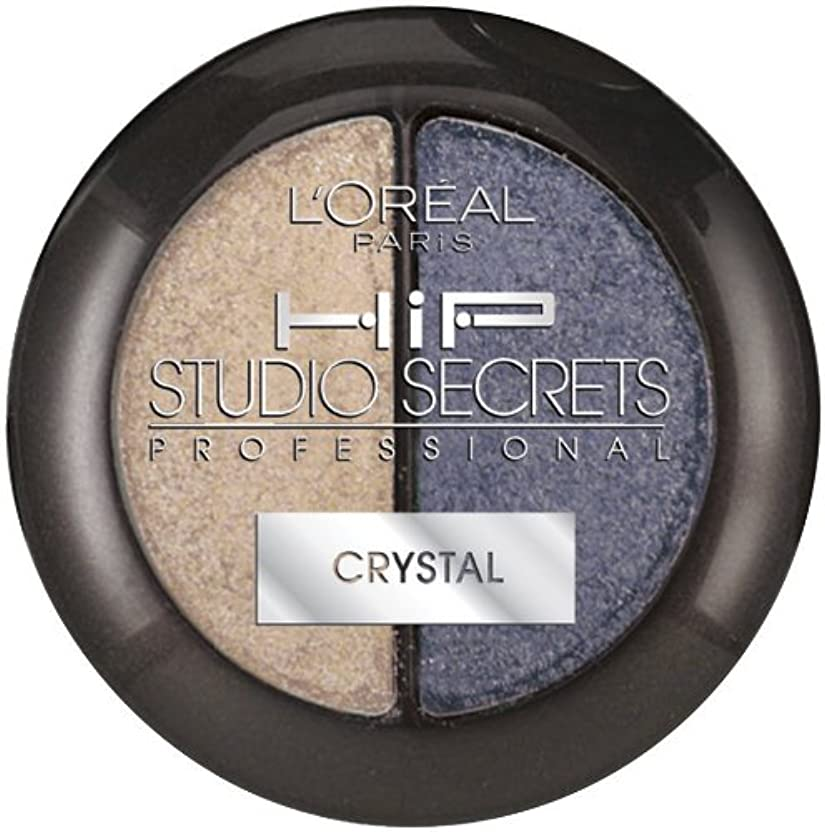 潜水艦飼料ピーブL'OREAL HIP STUDIO SECRETS CRYSTAL SHADOW DUO #519 CHARMING