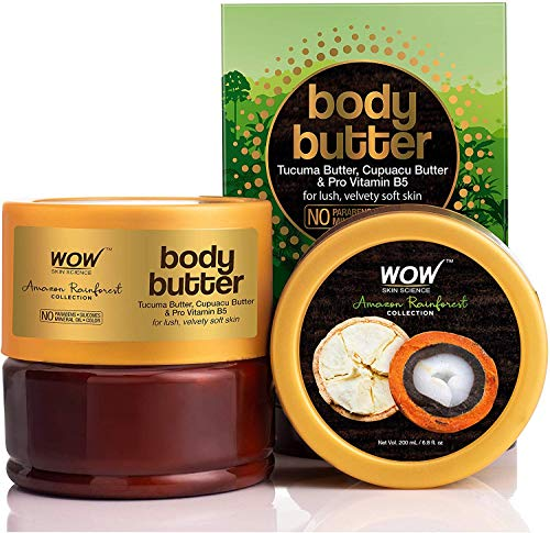 Glamorous Hub WOW Amazon Rainforest Collection Body Butter with Tucuma and Cupuacu Butter No Paraben Mineral Oil Silicones and Color 200 ml (Packing May Vary)