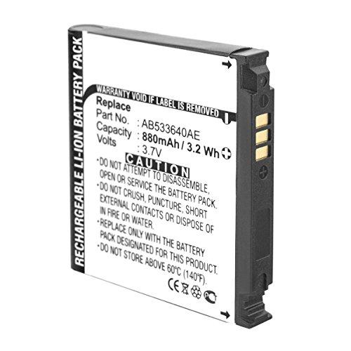 Akku kompatibel mit Samsung SGH-G600 J400 F330 F490 G400 Soul S3600 - ersetzt AB533640C AB533640AE AB533640CE, CU Li-Ion