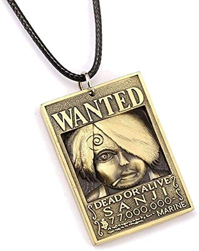 ZPPYMXGZ Co.,ltd Necklace Fashion Wanted Poster Necklace Money Order Pendant Necklace Friendship Men Women Anime Jewelry Choker Accessories