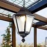 PLLP Europea Colgante Impermeable Anti-Rust Linterna de Aluminio Creativo Cristal E27 Cadena Techo Ajustable Antiguo Pendiente de la Luz Rústico Casa Rural Villa Patio Del Jardín Al Aire Libre de la