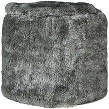 Sortio Home - Poef Furry - Grijs - Stof