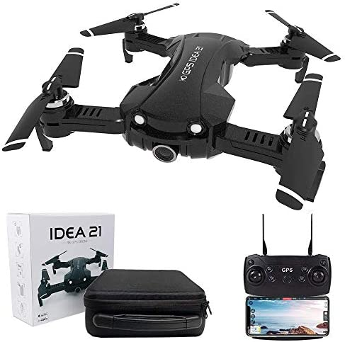 GPS Drones with 4K Camera for Adults 5G WiFi FPV Live Video with Adjustable 120 Wide Angle Camera product image