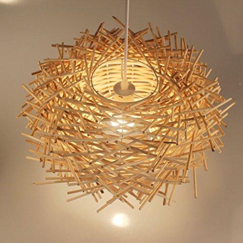 lampadario soggiorno bambù ZQL Lampada da tavolo moderna moderna in tessuto di legno