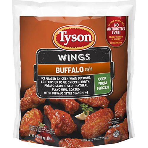 Tyson Uncooked Buffalo Style Chicken Wings, 2.5 lb....