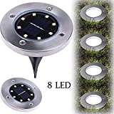 Iulove Solar Power Buried Light Under Ground Lamp Outdoor Path Way Garden Decking