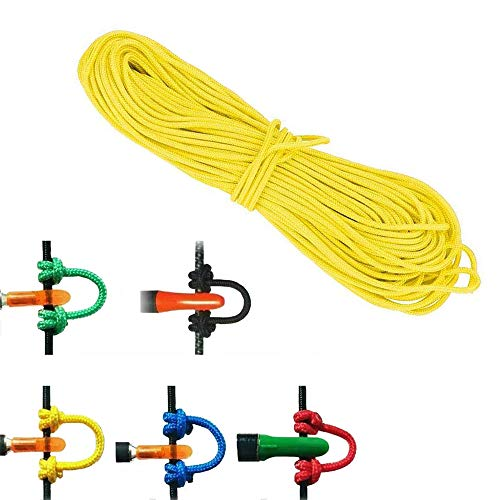 NMCPY Archery Bowstring D Loop Compound Bow D-Loop Archery Accessories Bow Release 3m Rope Wire String (Yellow)