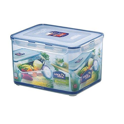 Lock & Lock HPL838Rechteckige Behälter 9 l blau, transparent, lebensmittelecht
