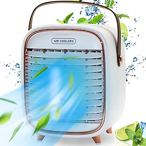 Portable Air Cooler, LIKMIC Mini Air Conditioner Cooler, Air Cooling Fan,...
