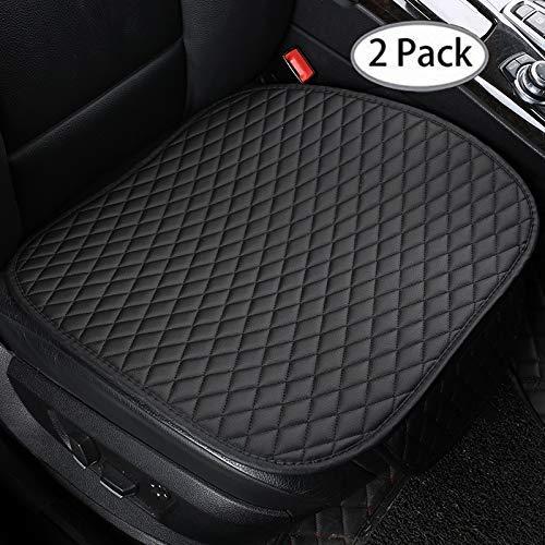 MAXTUF Sitzbezüge Auto Sitzauflage Sitzkissen Auto Abdeckung rutschfest Atmungsaktiv für Vordersitz mit Seitentasche, 2 Stück, Schwarz