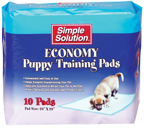 Simple Solution Economy Puppy Training Pads, 10-Count