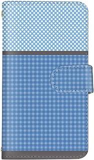 スマ通 Galaxy S5 SC-04F / SCL23 国内生産 カード スマホケース 手帳型 SAMSUNG サムスン ギャラクシー エスファイブ 【C.ブルー】 チェック ドット vc-893_sp