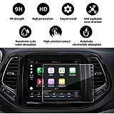 YEE PIN Protezione schermo di navigazione {Jeep Compass} pellicola protettiva in vetro, senza bolle d'aria, resistente ai graffi, a prova di esplosione, 9H HD (8.4pollice)