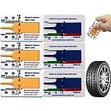 Strumento misurazione della ruota motociclo 6 pezzi Misuratore profondità dell'auto Misuratore profondità battistrada Calibro corsoio profondità Per ruota rimorchio auto moto arancione blu car