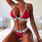 LZJE Conjunto de lencería Sexy para Mujer Talla Grande Conjunto de tentación Push Up Bra y Conjunto de Bragas Lencería erótica Sujetador de Ropa Interior Femenina Sexy, 157 Rojo, XXL