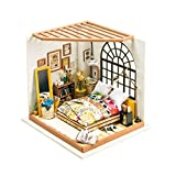 KEHUASHINA Kit de casa de muñecas Creativa Kit de Dormitorio de sueño en Miniatura para niños y Adultos Regalos de Juguete