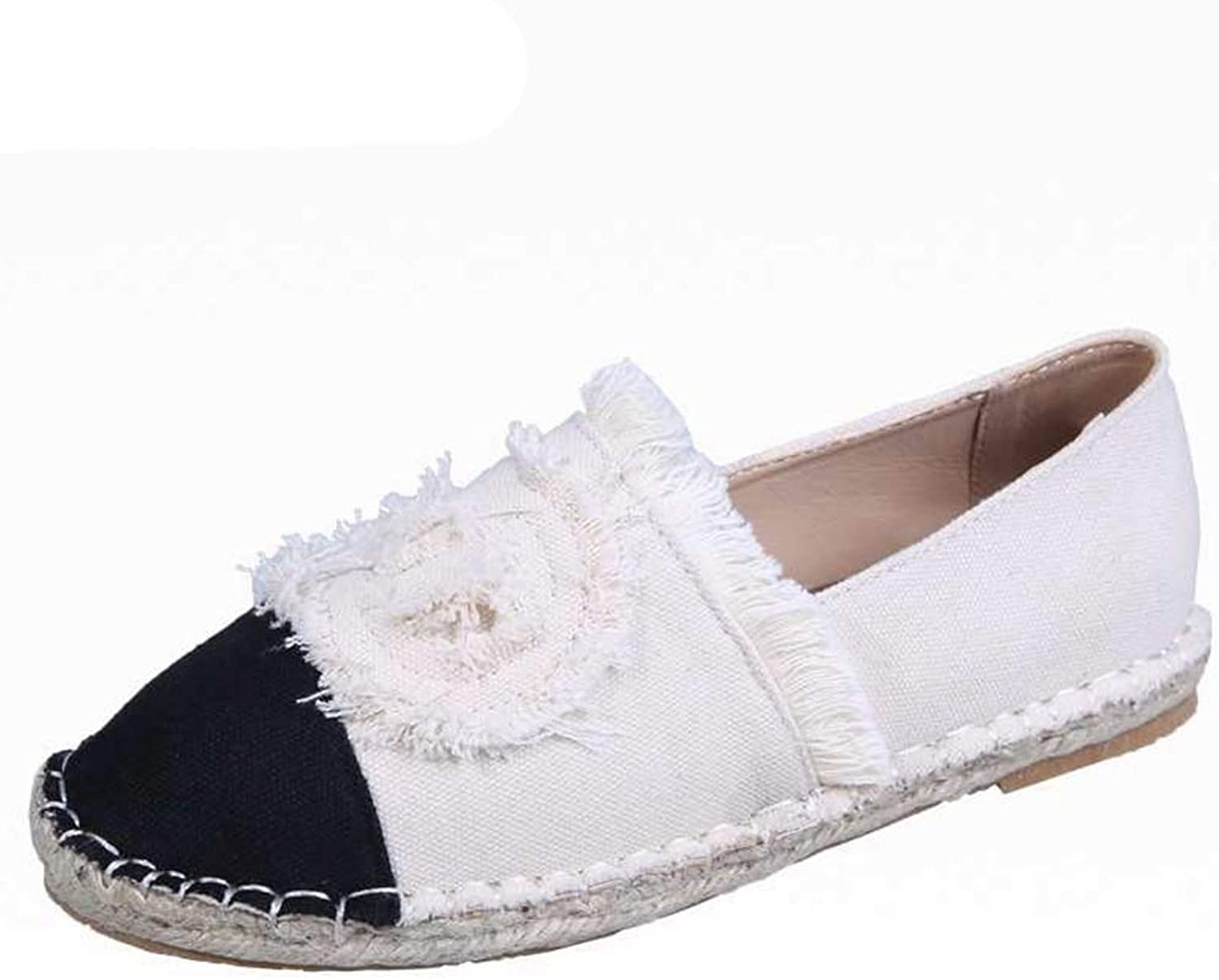 Fay Waters Women Loafers Canvas Embroidery Slip On Espadrilles Comfortable Round Toe Casual Flat shoes