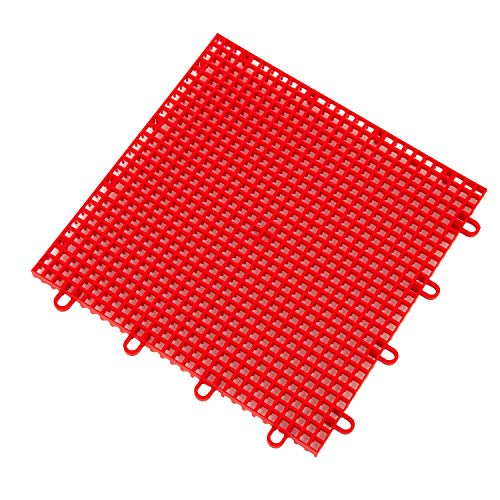 IncStores Outdoor Sports Tile Basketball Court Flooring (Victory Red, 40 Tiles (10x4 Area))