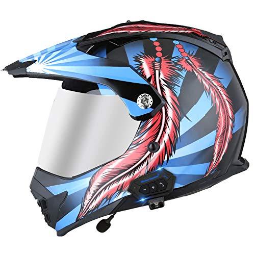 Casco Bluetooth Para Motocross, Abatible Hacia Arriba, Antiniebla, A Prueba De Lluvia,...
