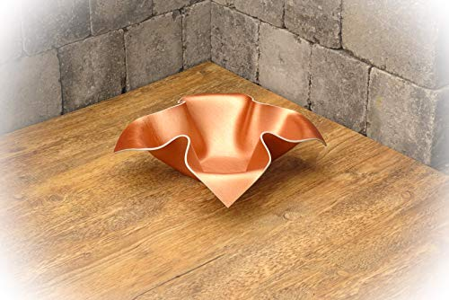 Design Schale aus Vinyl (Kupfer lackiert) // Dekoschale