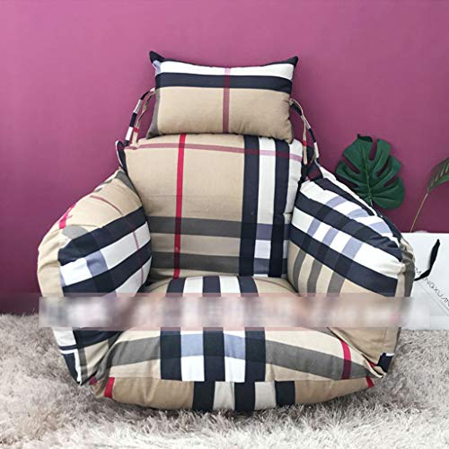 BLSTY Hangstoel Zitkussen, wasbaar stoelkussen voor hangmat rugkussen 147x115Cm(58x45Zoll) Ad.