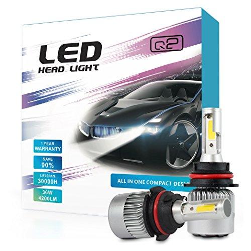 HID-Warehouse S2 72W 8,000LM - 9007 Dual Beam LED Headlight Conversion Kit - 6500K COB LED - 2019 Model