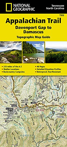 Appalachian Trail, Davenport Gap to Damascus [North Carolina, Tennessee] (National Geographic Topographic Map Guide) (National Geographic Topographic Map Guide, 1502)