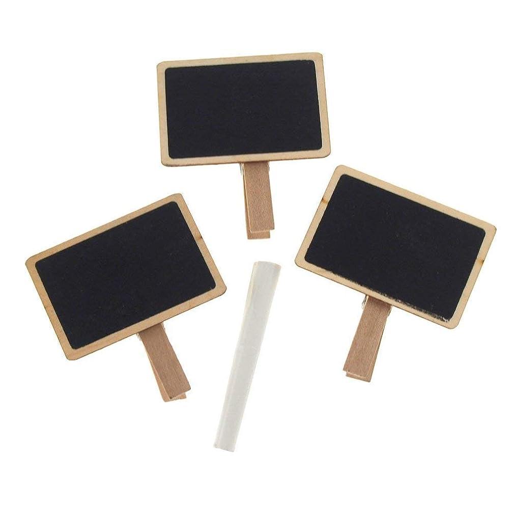 Homeford FMK00000000A9158 Wooden Chalkboard Clothespins + 1pc Chalk 2-1/2