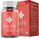 Pure Apple Cider Vinegar Gummies - U.S.D.A. Organic Certified A.C.V. Gummies - No Artificial Sweeteners - with Raw, Organic Apple Cider Vinegar with The Mother - Detox, Cleanse Support - 60 Ct by WellPath Solutions