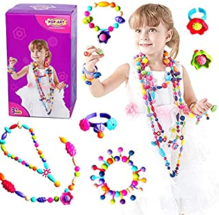 LITTLESMET Pop Beads Girls Toys DIY Jewelry Making Kit for Girls Beads for Kids Making Necklace Bracelet Ring Art Craft Toys Christmas Birthday Gifts for 3, 4, 5, 6, 7, 8, 9 Years Old Girls