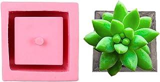 CactusAngui Gardening Mold Supplies Square Silicone Ceramic Clay Flower Pot DIY Mold Planter Vase Craft Home Decor - Pink