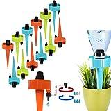 GOTONE 12 Piezas Sistema de Riego por Goteo Automático Kit, Ajustable Piezas Riego Dispositivos para Jardín Bonsáis y Flores en Vacaciones
