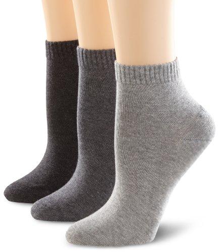 s.Oliver Unisex - Erwachsene Socke 3 er Pack, S21001, Gr. 39-42, Grau (08 anthracite)