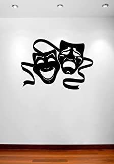 Theater Masks Comedy and Tragedy Wall Decal Vinyl Home Decoration - 20