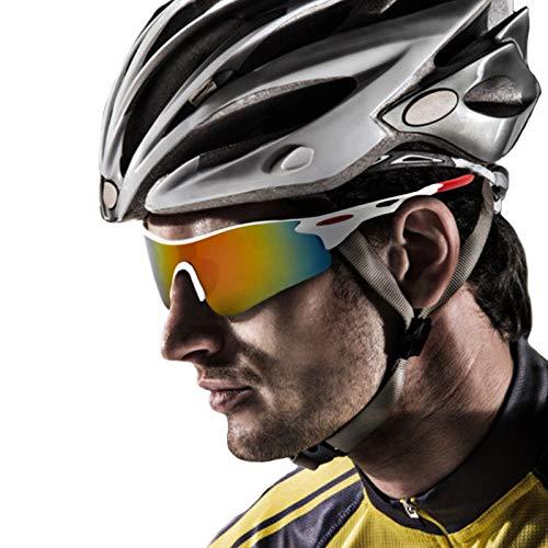 jiele Occhiali da Sole Sportivi Polarizzati, Protezione Ciclismo Occhiali da Sole, Protezione per Guida/Trekking/Bicicletta/Pesca,Uomo e Donna Antivento Aviatore Specchio per MTB,Bici,Moto,Trekking