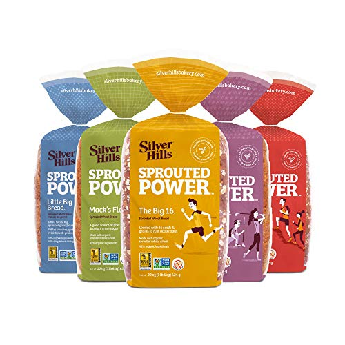 Silver Hills Sprouted Power Low Fat Bread Variety Pack, Made with Organic Sprouted Grains, Non-GMO (5 pack)