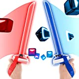Beat Saber Handles Controller Grips with Silicone Hand Backstrap for Oculus Quest 2 VR Workout Supernatual Jedi Training Sport Games by X-super Home