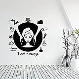 Etiqueta engomada de la pared del masaje tailandés calcomanía...