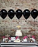 JOJOR Luftballons Schwarz Helium , Latex Ballon Schwarz Ø 30 cm für Geburtstag Hochzeit Feiern Graduierung Party Deko,100 Stück
