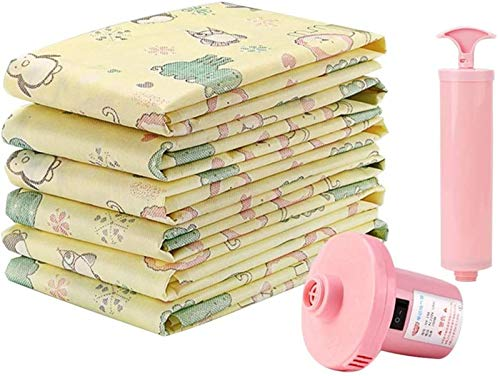 Storage Bag Bolsa de almacenamiento al vacío se utiliza para edredón, ropa de cama, almohada, ropa, colcha, suéter, colcha, ropa, maleta, 6 bolsas hermosas (tamaño: 100 x 70 cm)