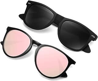 Polarized Sunglasses for Women Men Retro Mirrored Sun...