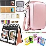 Katia Sprocket Portable Photo Printer Kit de accesorios para HP X7N07A, Polaroid ZIP Mobile Printer / Print Fotos de redes sociales con funda rígida, álbum de calendario, marcos, 2x3 adhesivo - Oro